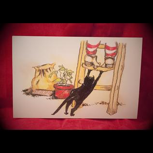 Gotcha Postcard by Sabrina the Ink Witch