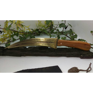 Hand Cast Bronze Blade With a Yew Wood Handle