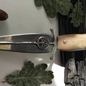 Hex Solid Sterling Silver Athame With a Oak Handle