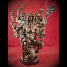 Solid Bronze Witch Queen Statue