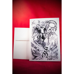 Greeting Card - St. Michael by Sabrina the Inkwitch