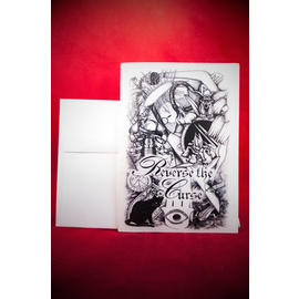 Hex Greeting Card - Reverse The Curse by Sabrina The Inkwitch