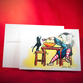Hex Greeting Card - Cook for Kitty by Sabrina the Ink Witch