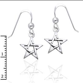 Small Pentacle Earrings