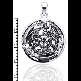 Peter Stone 3 Dragons Pendant