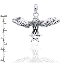 Peter Stone Flying Owl with Pentacle & Triangle