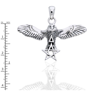Flying Owl with Pentacle & Triangle