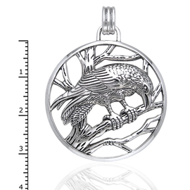 Peter Stone Raven on Branches Pendant