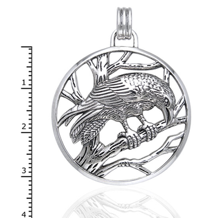 Hex Raven on Branches Pendant