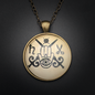 Curse Reversal Talisman in Antique Brass with Glass Cabochon