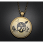 Hexing Talisman in Antique Brass with Glass Cabochon