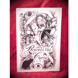 Hex Reverse the Curse Postcard by Sabrina the Ink Witch