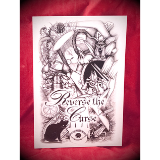 Reverse the Curse Postcard by Sabrina the Ink Witch