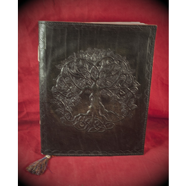 Small Detailed Celtic Knot Tree Journal in Black