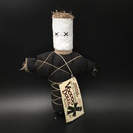 Old New Orleans Voodoo Doll in Black