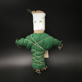 Old New Orleans Voodoo Doll in Green