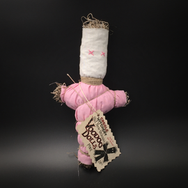 Creole Witchery Old New Orleans Voodoo Doll in Pink