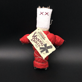 Old New Orleans Voodoo Doll in Red