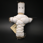 Old New Orleans Voodoo Doll in White