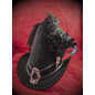 Broom Rider Hat in Black Suede with Buckle