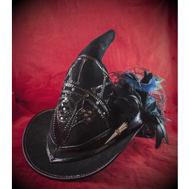 The Blonde Swan Broom Rider Witching Hour in Black Suede