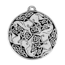 Celtic Horses Talisman Pendant