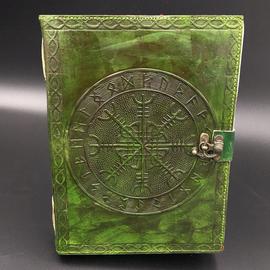 Small Aegishjalmur Runic Journal in Green
