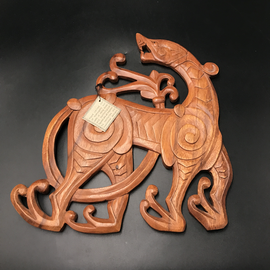 Celtic Hound Wall Hanging in Mahogany