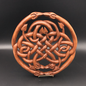 Hex Celtic Dragon Knot Wall Hanging in Mahogany