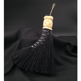 Scheumack Broom Company Turkey Tail Altar Broom (black)