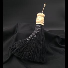 Turkey Tail Altar Broom (black)