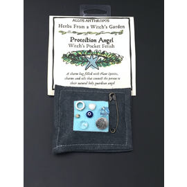 Protection Angel Witch's Pocket Fetish - Herbs from a Witch's Garden