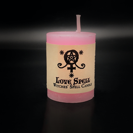 Dark Candles Hex Votive Candle - Love Spell
