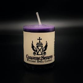 Dark Candles Hex Votive Candle - Conjuring Spirits