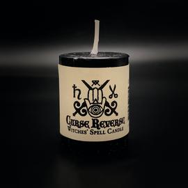 Dark Candles Hex Votive Candle - Curse Reverse