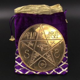 Shahid Kahn Leather Books The Pentacle of Alexandria in Solid Copper - 6 Inches in Diameter