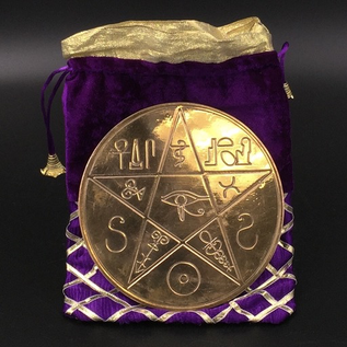The Pentacle of Alexandria in Solid Copper - 6 Inches in Diameter