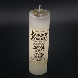 Dark Candles Hex Pillar Candle - Psychic Powers