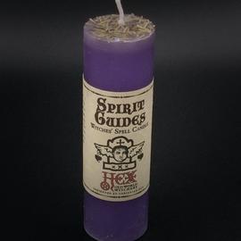 Dark Candles Hex Pillar Candle - Spirit Guides