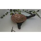 Hand Beaten Copper Incense Dish Set on to a Ebonised Apple Wood Stand