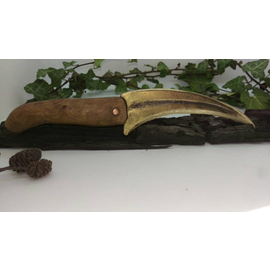 Hex Bronze Bladed Athame With a Black Thorn Handle