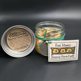 Fast Money Beeswax Charm Candle 4oz