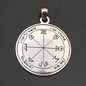 Hex The First Pentacle of Mars in Iron with Garnet