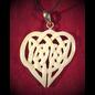 Hex Bone Knotwork Heart Necklace