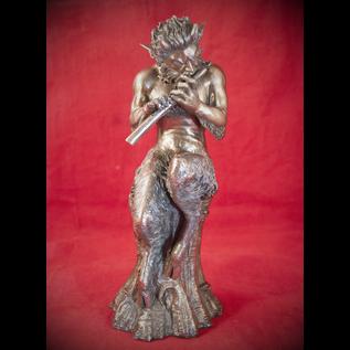 Satyr Statue in Cold Cast Bronze