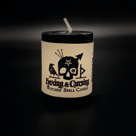Dark Candles Hex Votive Candle - Hexing