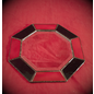 6 Inch Eight-Sided Mirror Featuring a 1 Inch Red and Black Border