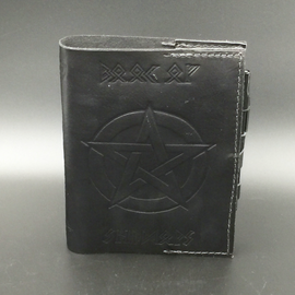 Leather Book of Shadows with Elder Futhark