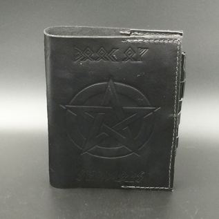 Hex Leather Book of Shadows with Elder Futhark