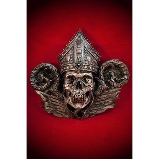 Bishop Thanatos Wall Plaque in Silver Finish
